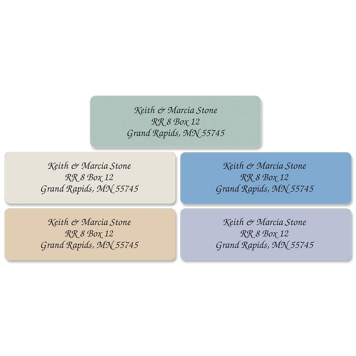 Stonewashed Standard Rolled Address Labels  (5 Colors)