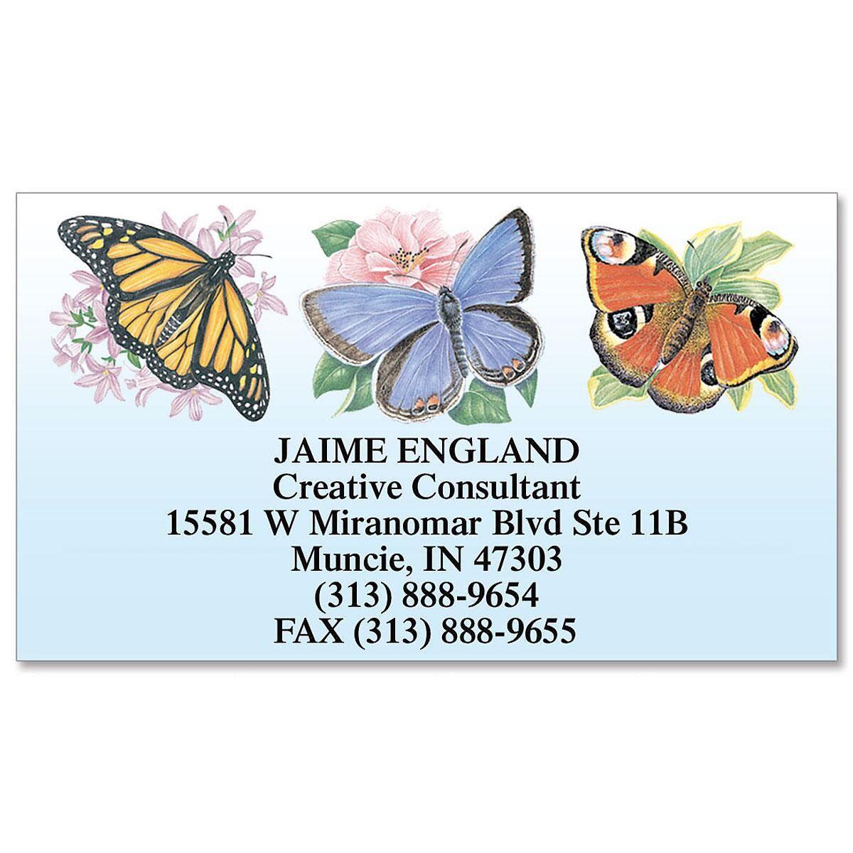 Flutterbys Business Cards