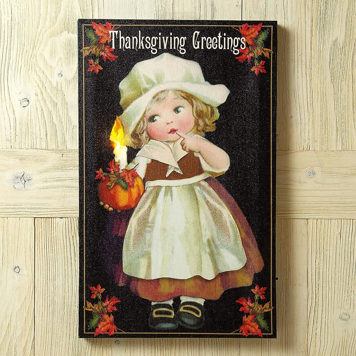 Lighted Thanksgiving Canvas