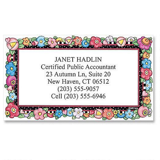 Mary's Bright Blossoms  Business Cards