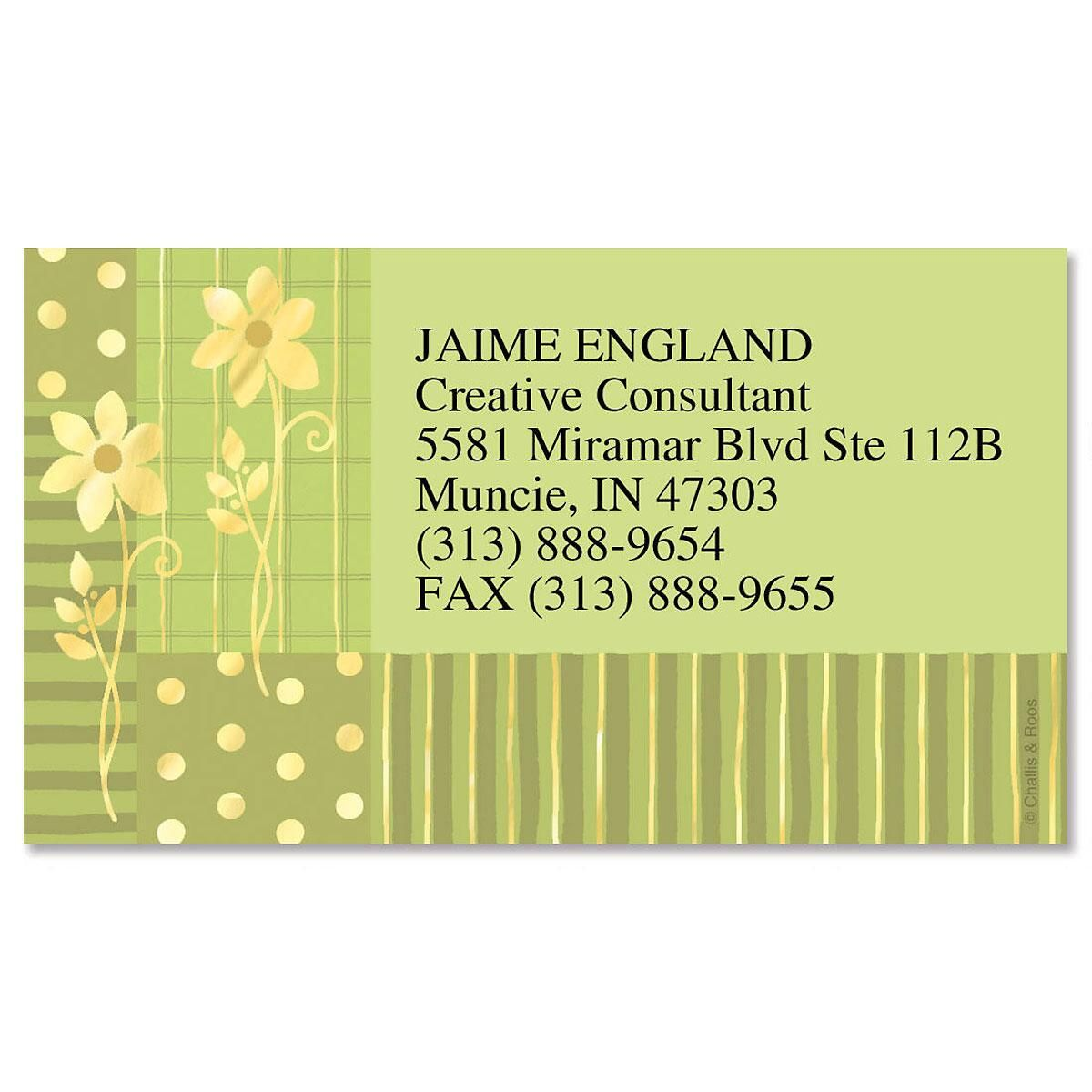 Gilded Field Foil Business Cards