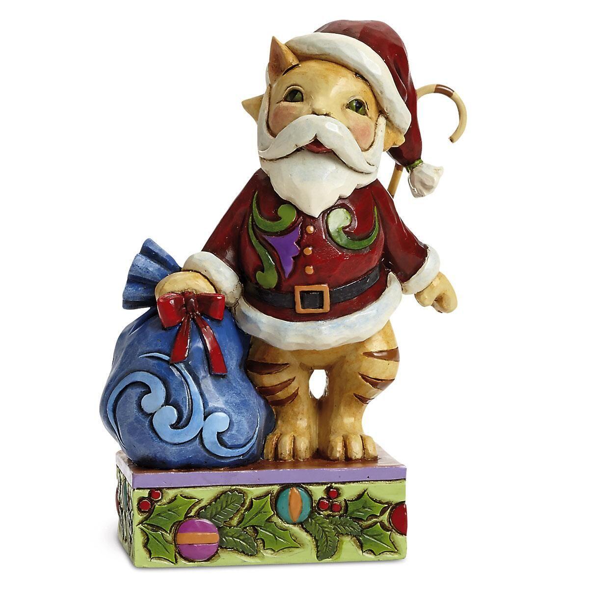 """Jolly Old Santa Paws"" Christmas Cat by Jim Shore"