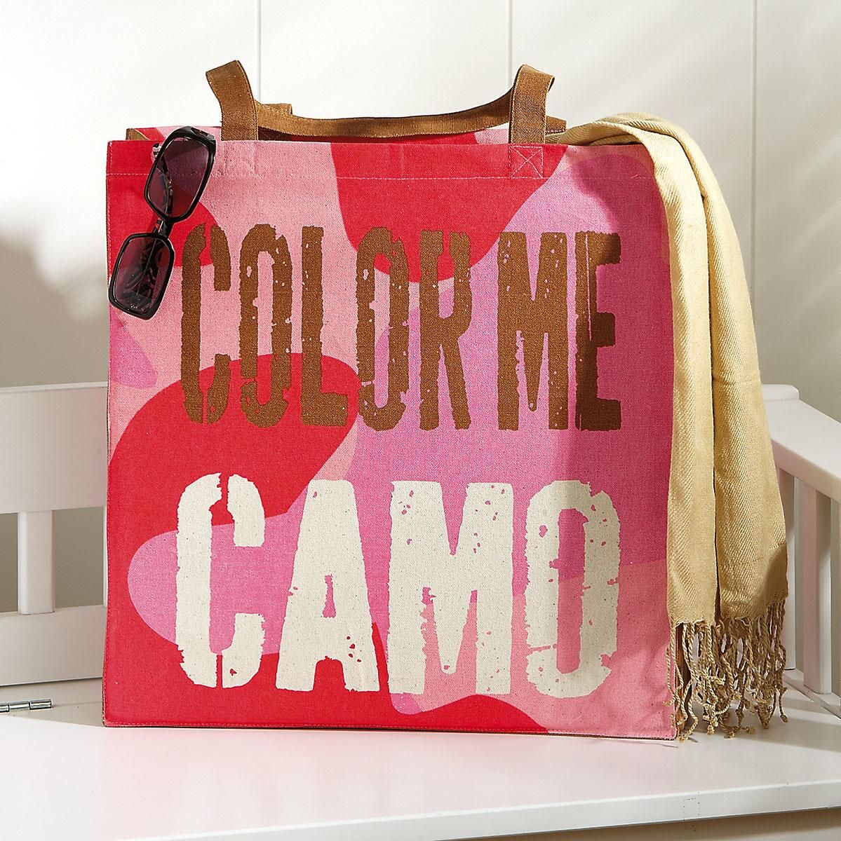 Color Me Camo Tote Bag
