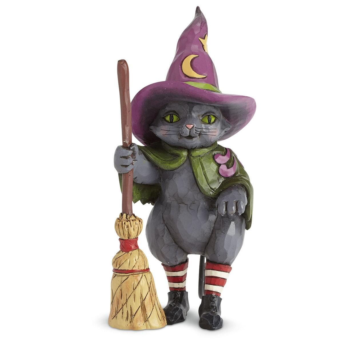Witch Cat with Broom by Jim Shore