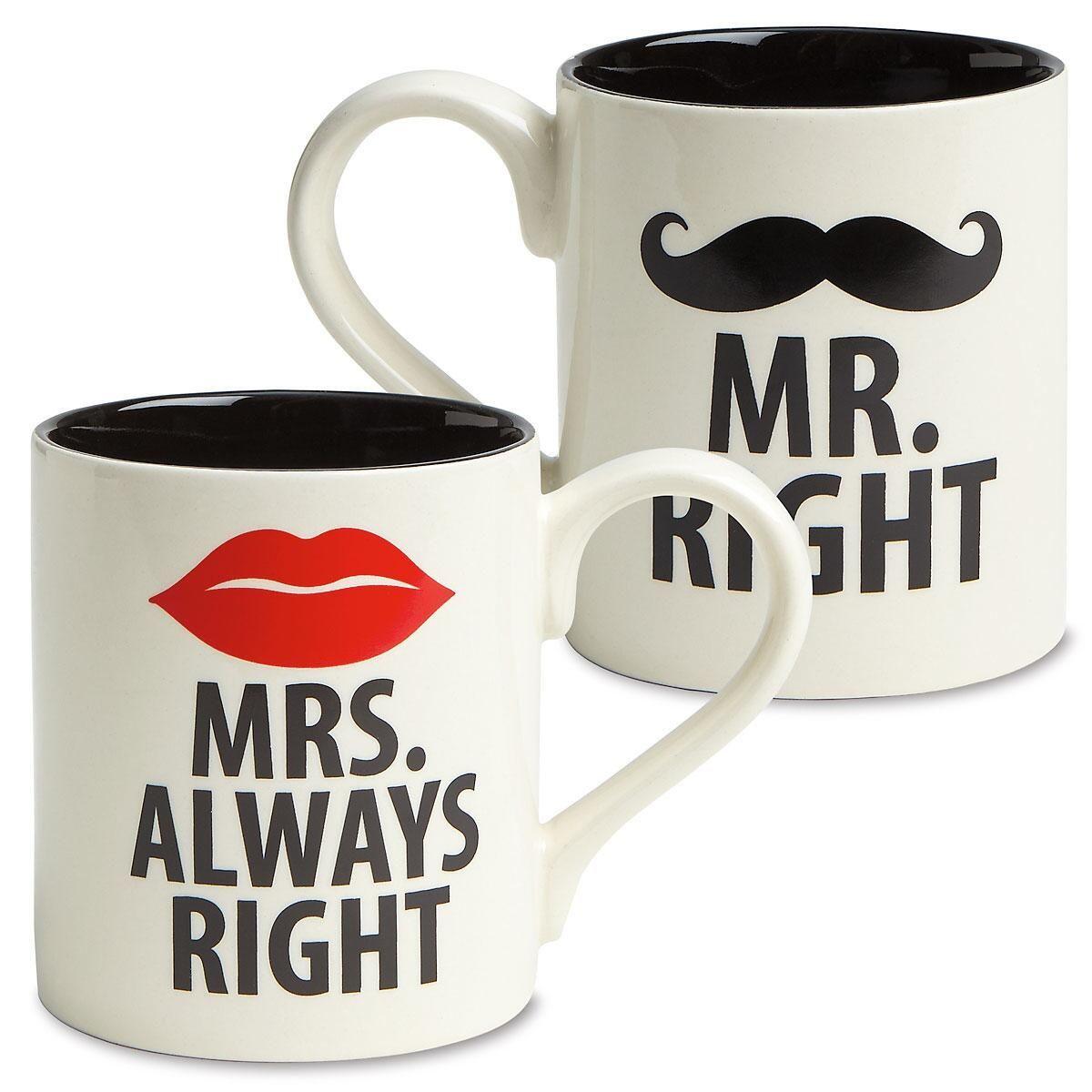 Mr. & Mrs. Right Mugs