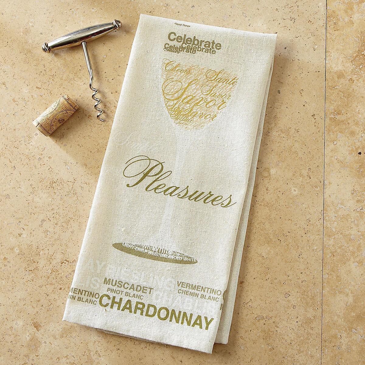 White Wine Bar Towel