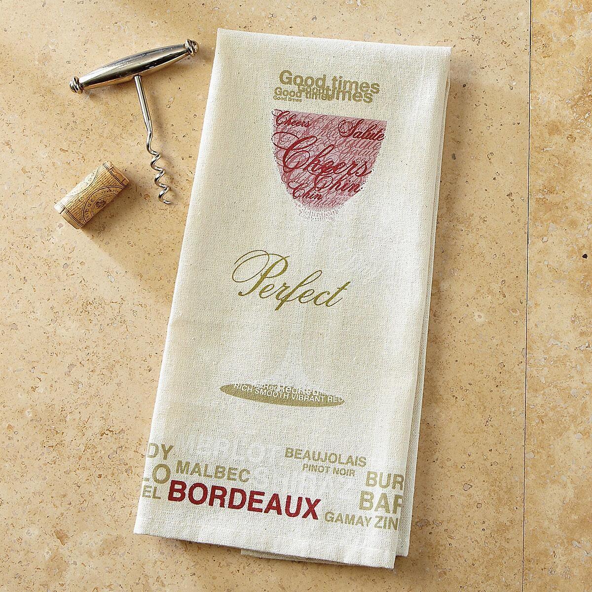 Red Wine Bar Towel