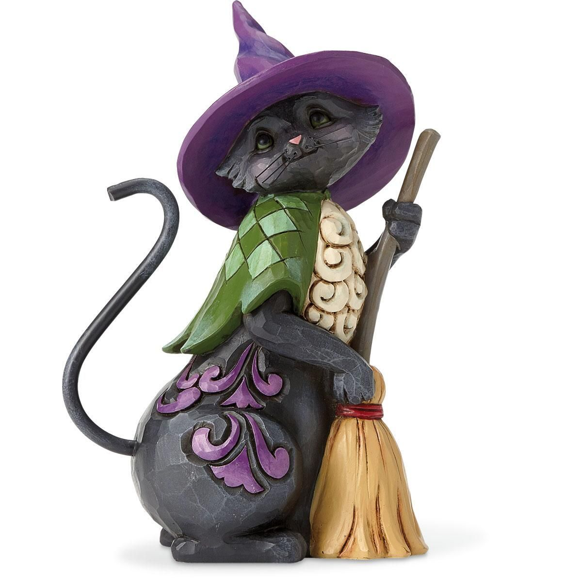 Black Cat with Broom by Jim Shore