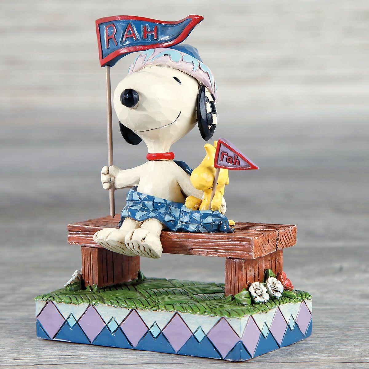 Jim Shore PEANUTS® Snoopy™ and Woodstock Rah!