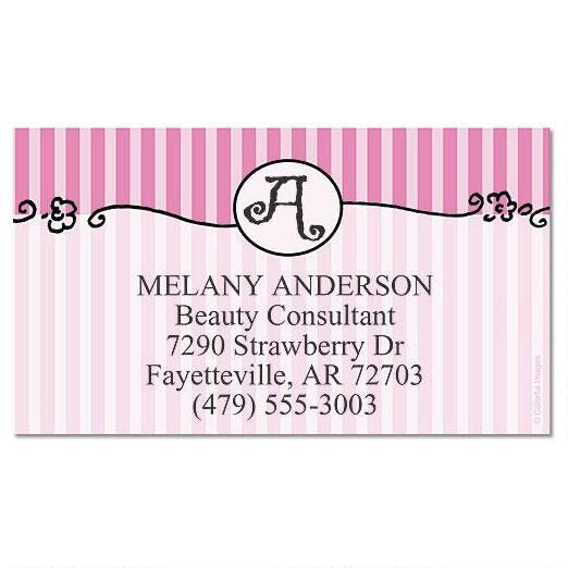 Parisian Initial Business Cards