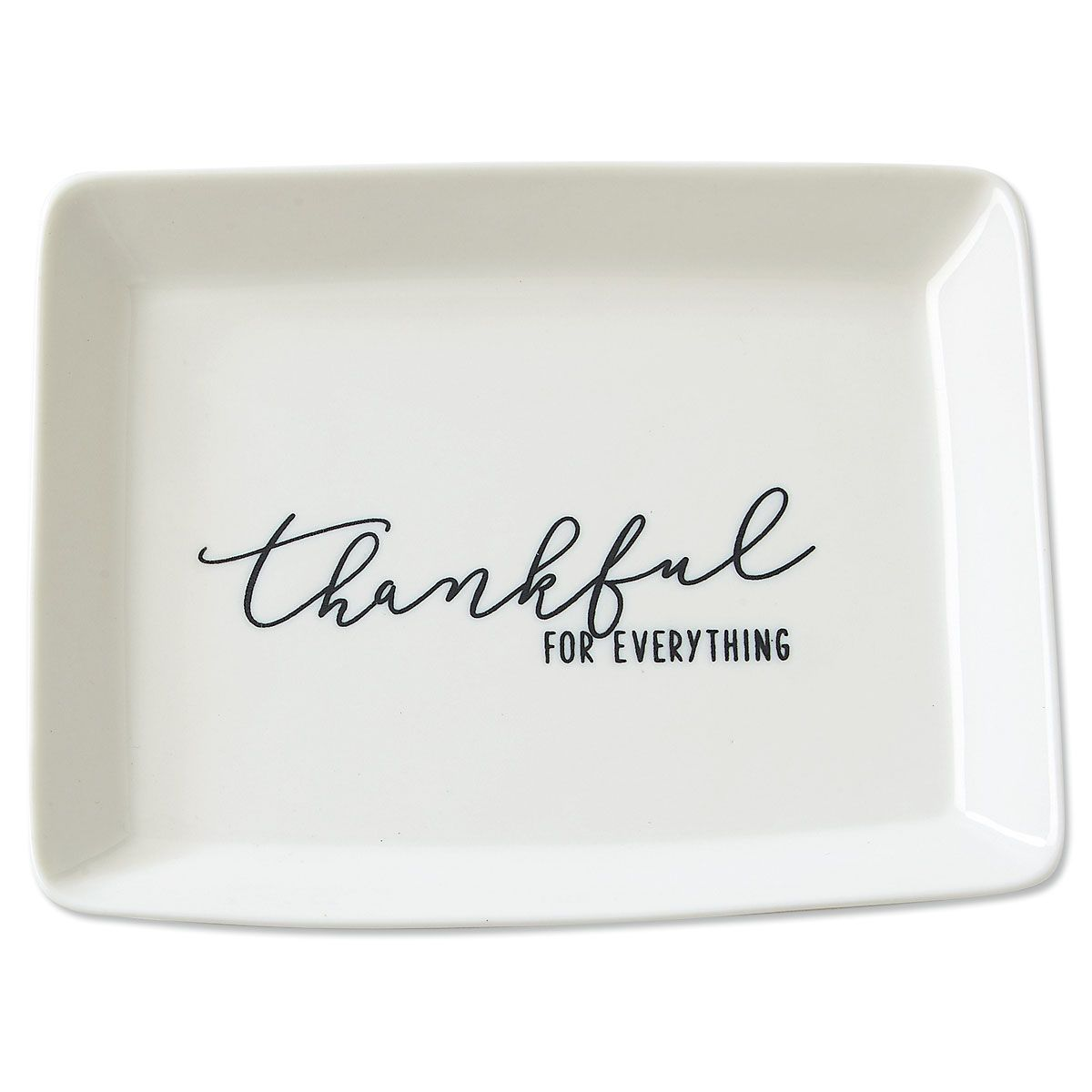 Thankful Porcelain Trinket Dish