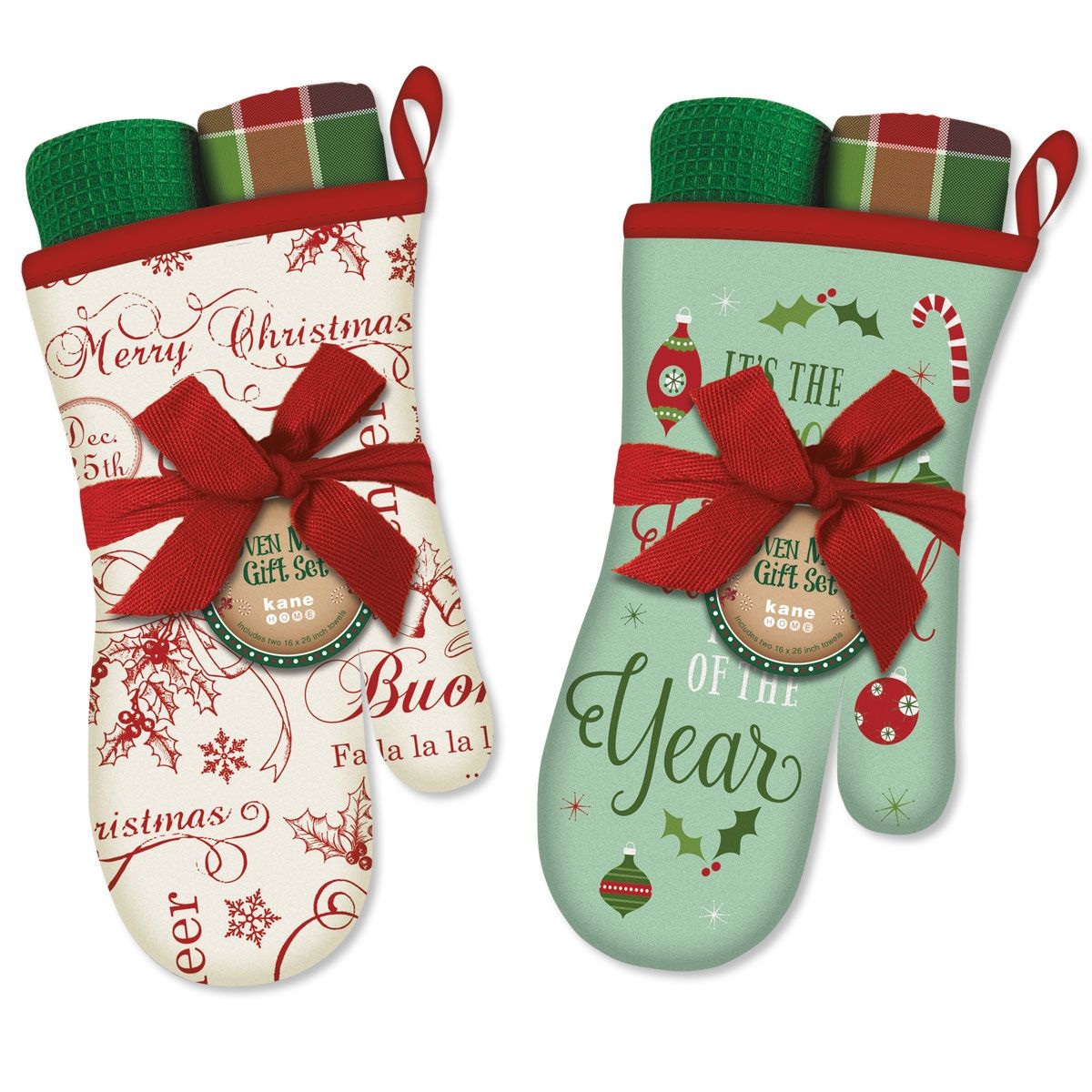Oven Mitt and Towel Gift Set