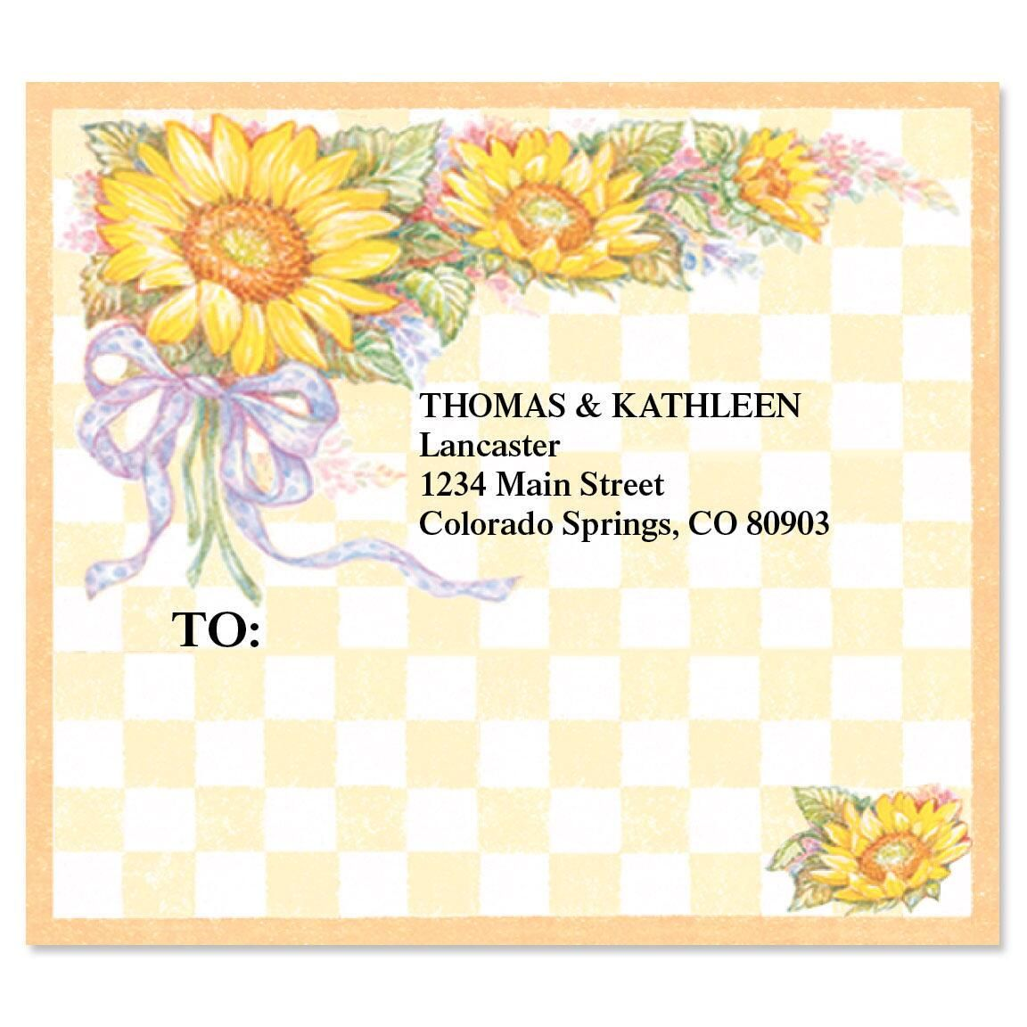 Sunflower Bouquet Package Labels