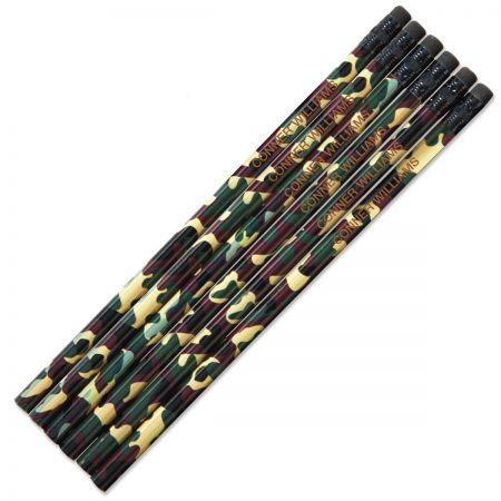 Camouflage #2 Hardwood Custom Pencils