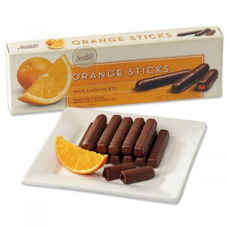 Orange Milk Chocolate Gourmet Sticks
