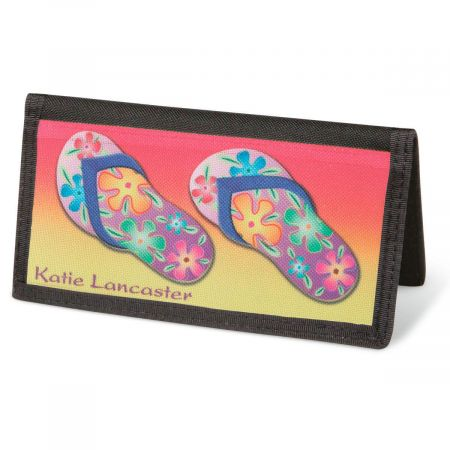 Flip-Flops Fun  Checkbook Cover - Personalized