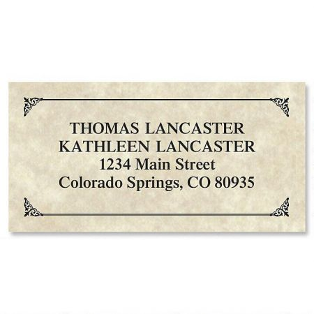 Antique Border Return Address Labels  Colorful Images