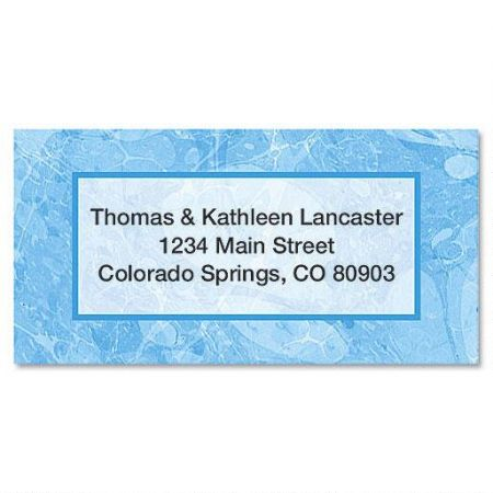 Blue Marble Border Return Address Labels