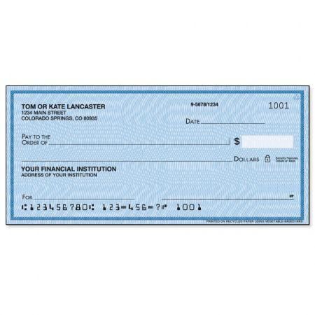 Security Blue Personal Checks