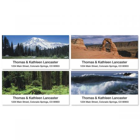 Nature's Splendor Deluxe Return Address Labels  (4 Designs)