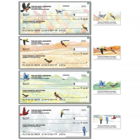 Wildbird Single Checks with Matching Address Labels