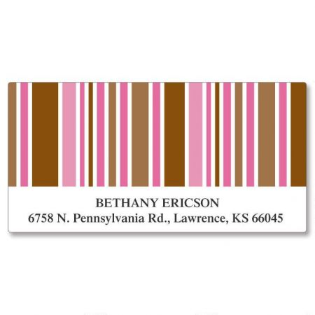 Stripes Deluxe Address Labels