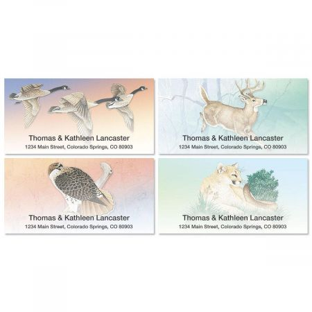 Wildlife Deluxe Return Address Labels (4 Designs)