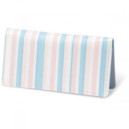 Coastal Stripes Fabric Personal Checkbook Cover