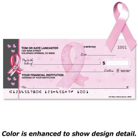 Pink Ribbon Duplicate Checks