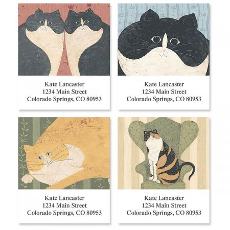 Cozy Cats Address Labels by Warren Kimble  (4 designs)