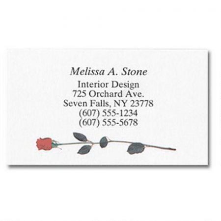 Single Rose Business Cards