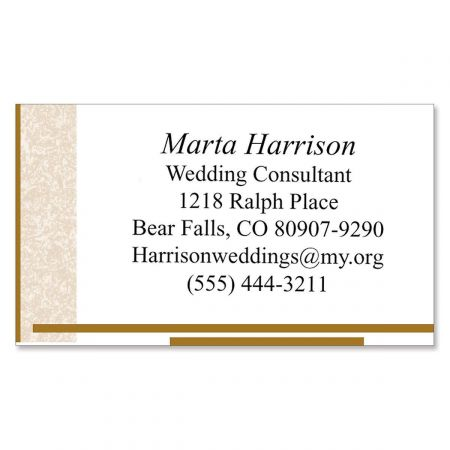 Tan Marble Business Cards
