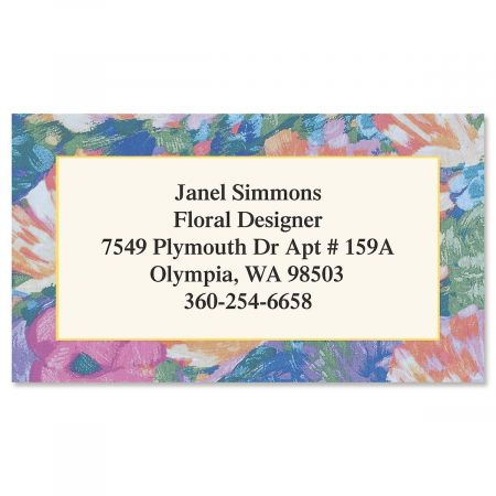 Brushed Floral Business Cards