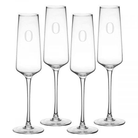 Custom Estate Champagne Flutes