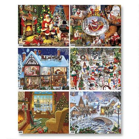 Holiday 6-in-1 Puzzle Set