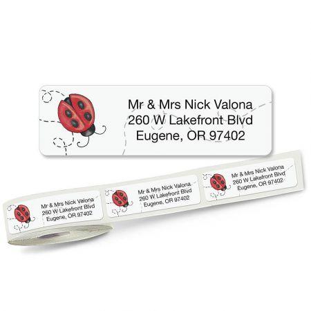 Ladybug Rolled Return Address Labels