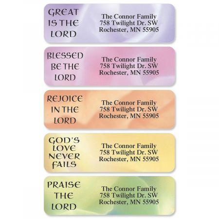 Praises Rolled Return Address Labels  (6 Designs)