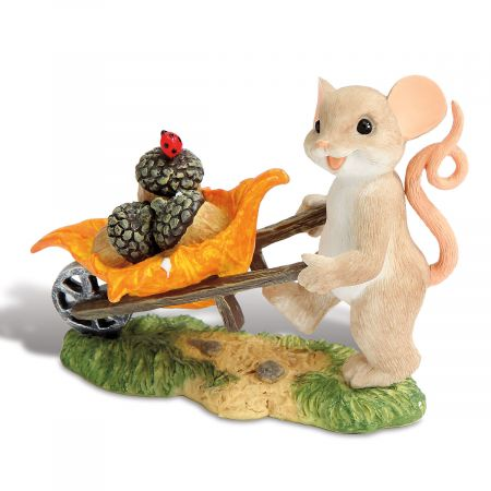 Mouse with Wheelbarrow Figurine by Charming Tails®