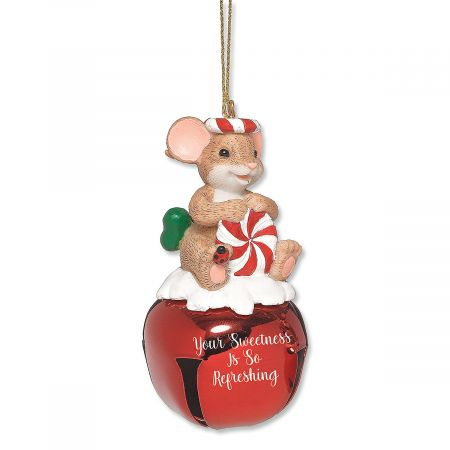 Candy Jingle Bell Mouse by Charming Tails®