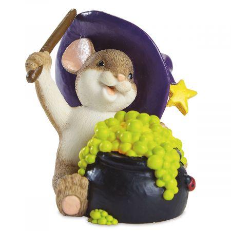 Lit Cauldron Mouse by Charming Tails®