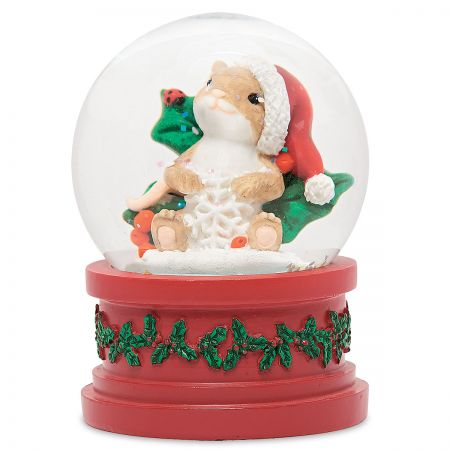 Christmas Mouse in Globe by Charming Tails®