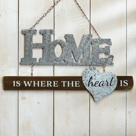 Wood and Tin Home Sign