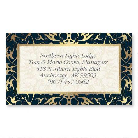 Black Filigree Gold  Foil Business Cards