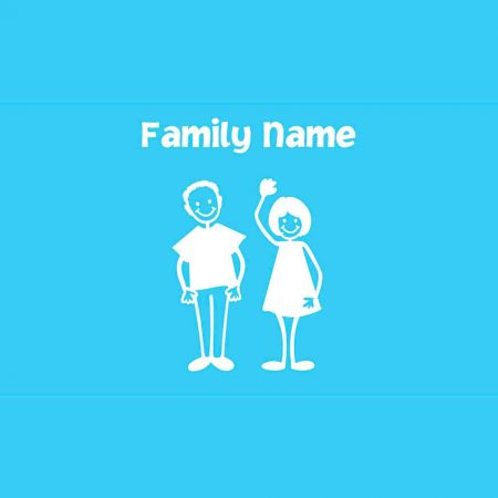 Happy Family Personalized  Vinyl Cling