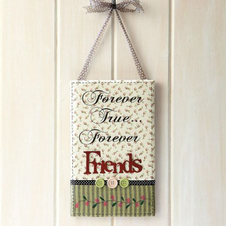 Forever Friend Fabric-Covered Plaque