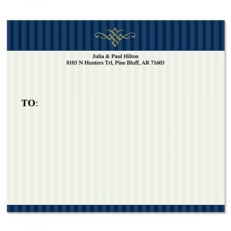 Navy Pinstripe  Package Labels