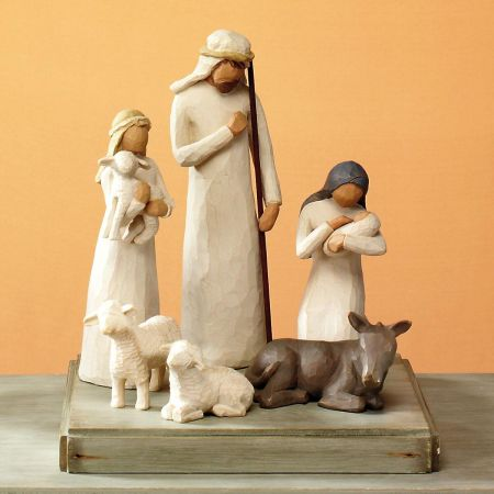 Holy Family 6-Piece Nativity Starter Set by Willow Tree® for Demdaco