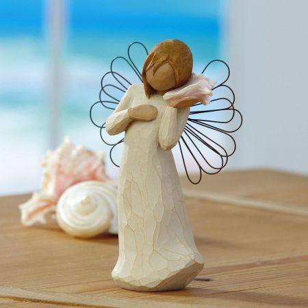 Home 26131 Thinking of You DEMDACO Willow Tree hand-painted sculpted angel