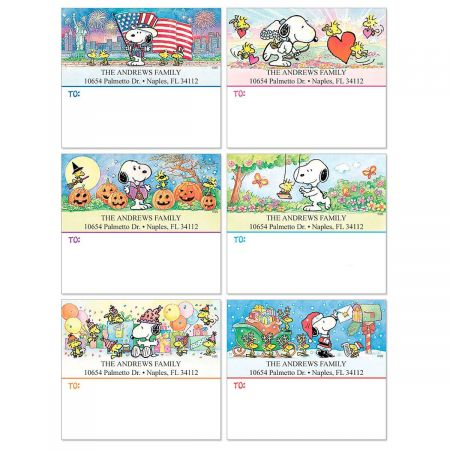 Snoopy® Celebrates! Package Labels  (6 Designs)