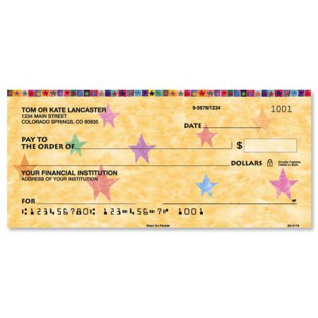 Stars on Parade Personal Checks